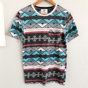 Urban Outfitters On The Byas Aztec Crew Neck Tee
